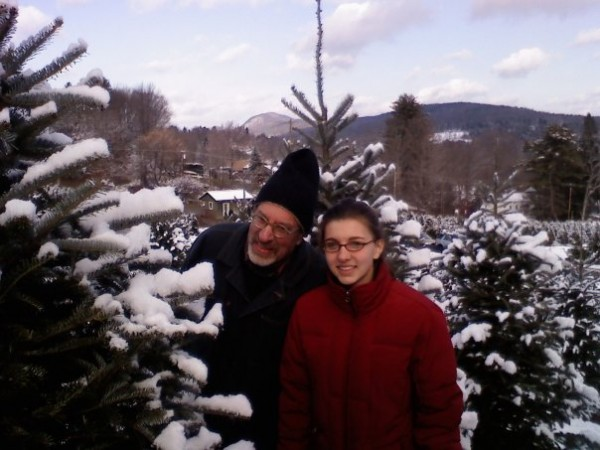 Dave and Annalena at Seekonk Tree Farm