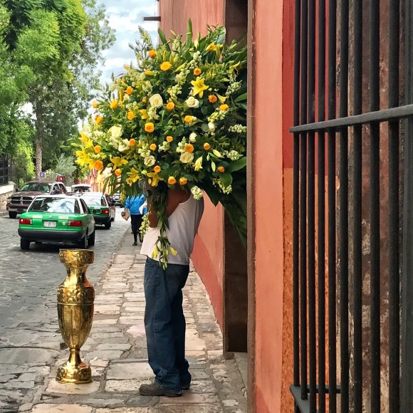 Hombre de flores/Flower Man by Gina Hyams