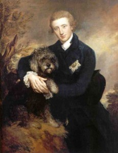 Duke of Buccleuch with his dog by Gainsborough, 1770