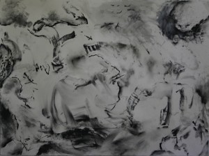 "'The Winds of Change', charcoal on paper, 22"" x 30"", 2013"